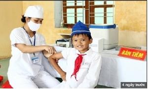 Triển khai tiêm vắc xin viêm não Nhật Bản cho trẻ 6-14 tuổi