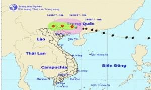 Bão số 6 suy yếu thành một vùng áp thấp trên khu vực biên giới Việt – Trung, Bắc Bộ tiếp tục mưa lớn diện rộng