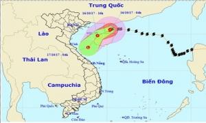 Bão số 11 di chuyển theo hướng Tây Nam và suy yếu thành áp thấp nhiệt đới