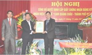 Công bố nhãn hiệu tập thể Cam Quảng Châu - Thành phố Hưng Yên