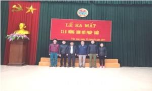 """Ra mắt Câu lạc bộ """"Nông dân với Pháp luật"""" thị trấn Trần Cao"""
