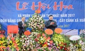 Khai mạc Lễ hội hoa Xuân Quan lần thứ nhất, năm 2017