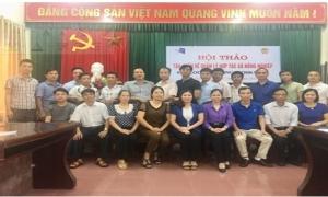 Đồng chí Chủ tịch Hội Nông dân tỉnh dự và chỉ đạo Hội Thảo tập huấn về quản lý hợp tác xã nông nghiệp tại Mỹ Hào.