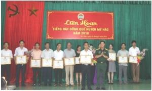 Liên hoan tiếng hát đồng quê huyện Mỹ Hào năm 2018