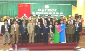 Đại hội đại biểu Hội Nông dân xã Tân Dân, lần thứ XXII, nhiệm kỳ 2018 – 2023.