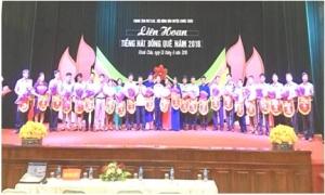Liên hoan tiếng hát đồng quê huyện Khoái Châu năm 2018.