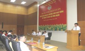 Sôi nổi các ý kiến thảo luận, tham gia góp ý vào báo cáo của BCH Trung ương Hội khóa VI, trình Đại hội Đại biểu toàn quốc Hội Nông dân Việt Nam lần thứ VII và Dự thảo Điều lệ Hội