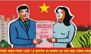 Tập trung tuyên truyền Ngày pháp luật Việt Nam