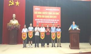 """Giải bóng chuyền """"Bông lúa vàng"""" huyện Văn Giang năm 2019"""