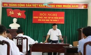 Hội nghị quán triệt ba nghị quyết của BCH  HND TW khóa 7