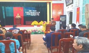 Hội thảo tập huấn tuyên truyền, vận động nông dân áp dụng canh tác lúa thân thiện với môi trường (SRI)