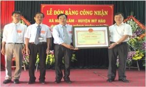 Xã Ngọc Lâm đón Bằng công nhận đạt chuẩn nông thôn mới