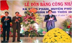Xã Tống Phan đón bằng công nhận đạt chuẩn nông thôn mới
