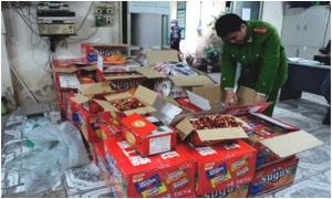 Hưng Yên thu giữ gần 2 tấn bánh kẹo lậu
