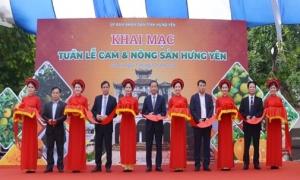 Khai mạc Tuần lễ cam và nông sản Hưng Yên tại Hà Nội